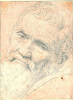 Michelangelo drawn by Volterra