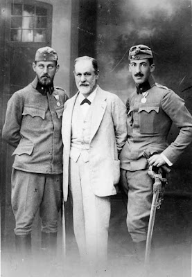 Freud with sons Ernst and Martin, August 1916