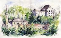 Acquerello del Castello, Wolfsegg am Hausruck, Austria - clicca per ingrandire