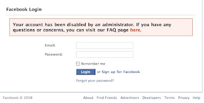 akun facebook diblokir, disable