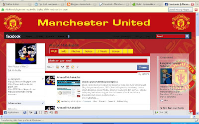 Facebook mancester united dari facebook stylish