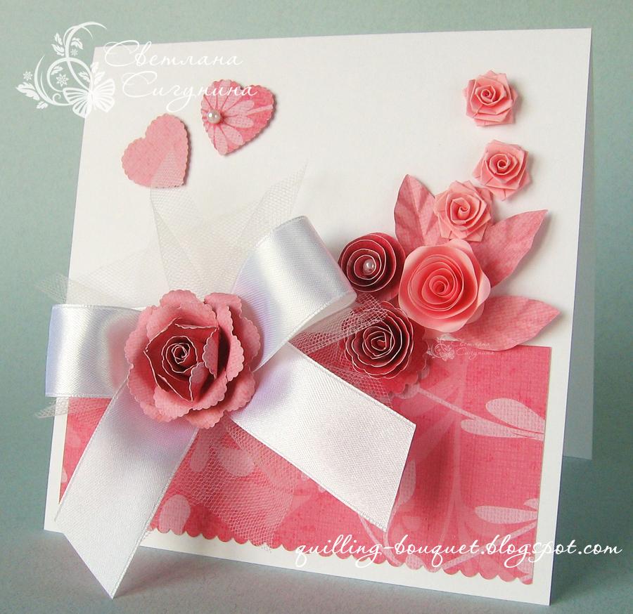 Розы для открыток своими руками 561