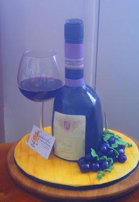 Wine Bottle Cakes