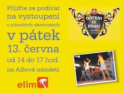 Přijďte se podívat na vystoupení o píseckých slavnostech v pátek 13. čevna 2008 od 14 do 17 hod. na Alšově náměstí. Vystoupí chválicí skupinka, tanečníci z Dance kempu a Petra Pešková se svou Klauniádou.
