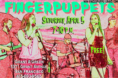 Fingerpuppets this Saturday  North Beach Grant And Green