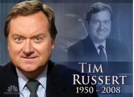 """""""Meet The Press"""" Tim Russert Dies Of A Heart Attack At 58"""