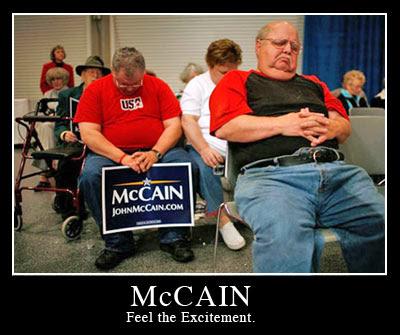 John McCain's Fans Sleep On The Job Of Support