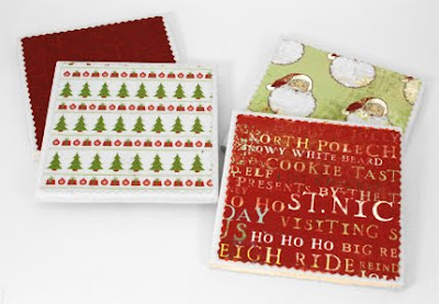 Mootinis Handpainted Glassware Ceramic Tile Christmas Coasters