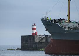 Feu du quai de Ponta Delgada (Açores, Portugal)