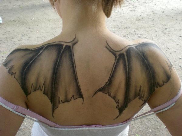 Татуировки крылья на спине значение - значение татуировки крылья