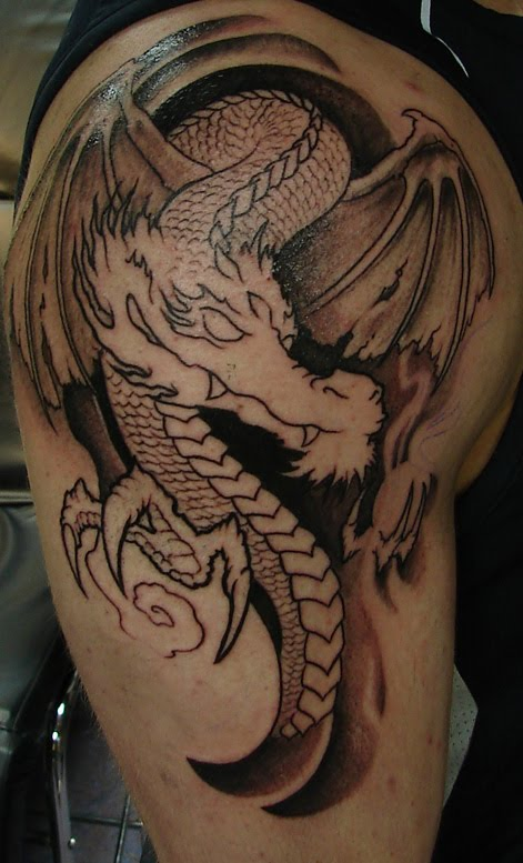 Огромная коллекция эскизов татуировок драконов - рисунки драконов для тату