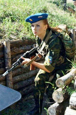 Army russian pics girls of Hot