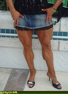 crazy muscle women legs