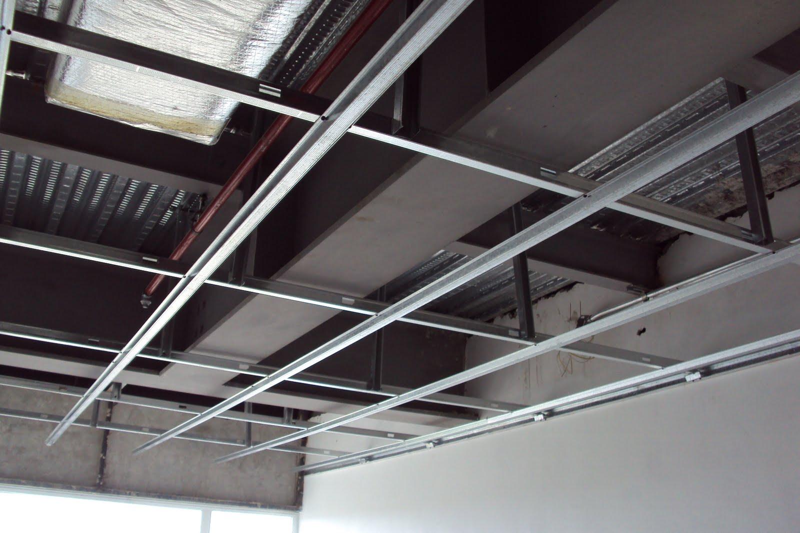 Instalacion de estructura techos de drywall habs 201 207 for Techos en drywall para habitaciones