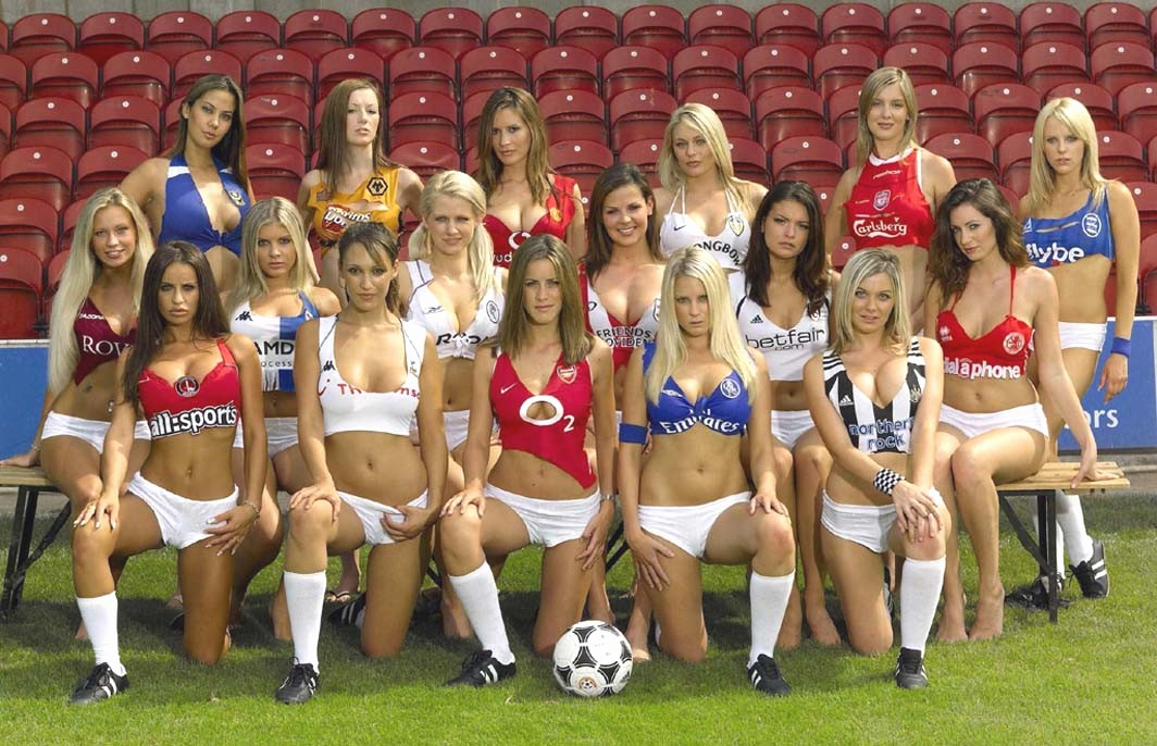 Funny and so sexy soccer babes