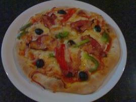 Uma das pizza