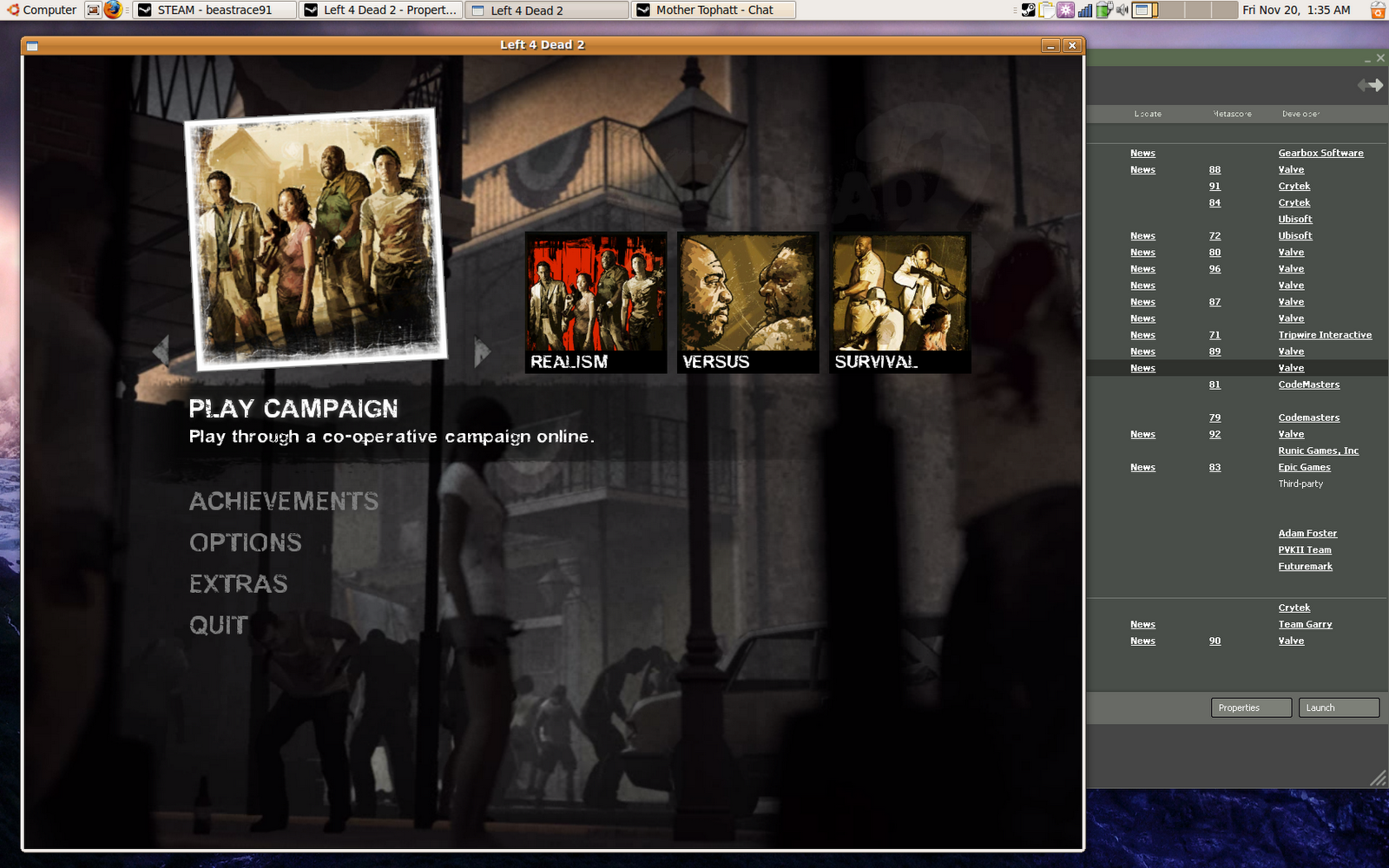 Left 4 Dead 2 Steam Could Not Load Library Matchmaking