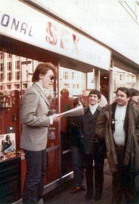 Eddie Steady Go en el Soho, en 1980