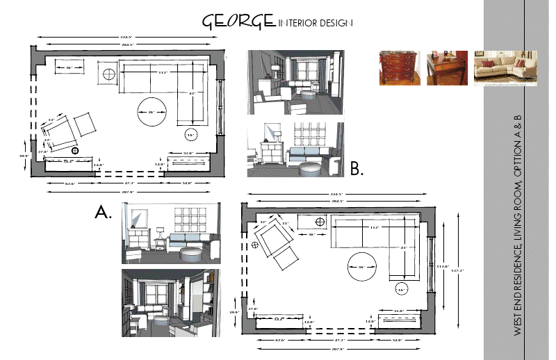 GEORGE Interior Design: New York Condo: Schematic Design Pt. I