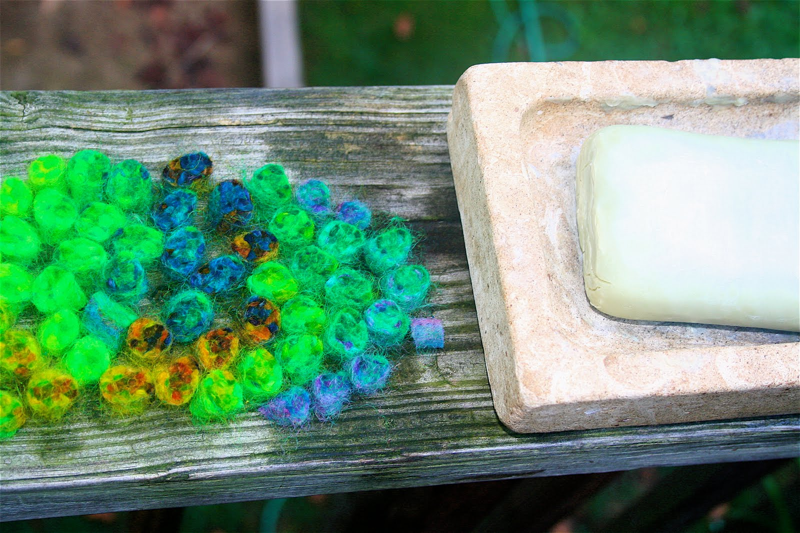 Moment to Moment: Felted wool beads