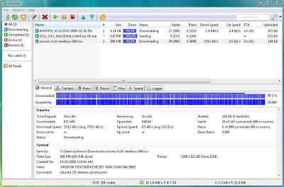 Окно «µTorrent»