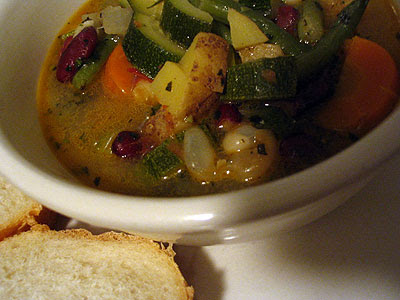 Provenal Bean and Vegetable Soupe au Pistou
