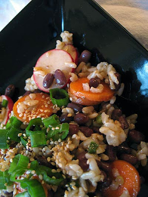 Spicy Azuki Bean and Brown Rice Salad