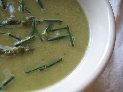 White Bean Cream of Asparagus Soup