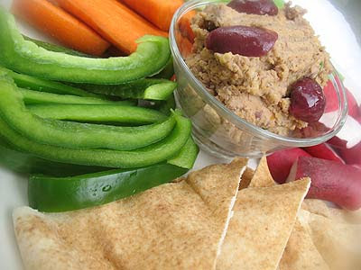 Marinated Sun-Dried Tomato Hummus with Olives