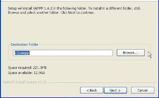 Directory install XAMPP
