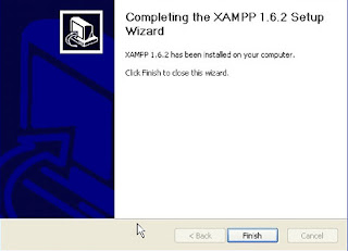 finish installasi XAMPP