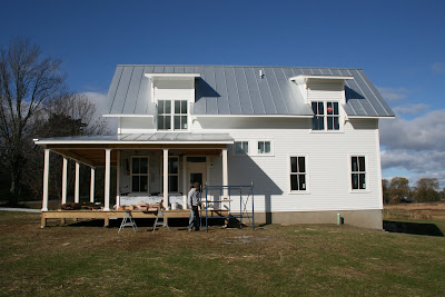 Building green in vermont more siding progress for Vermont farmhouse plans