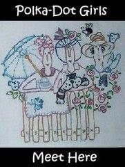 Polka Dot Girls Embroidery