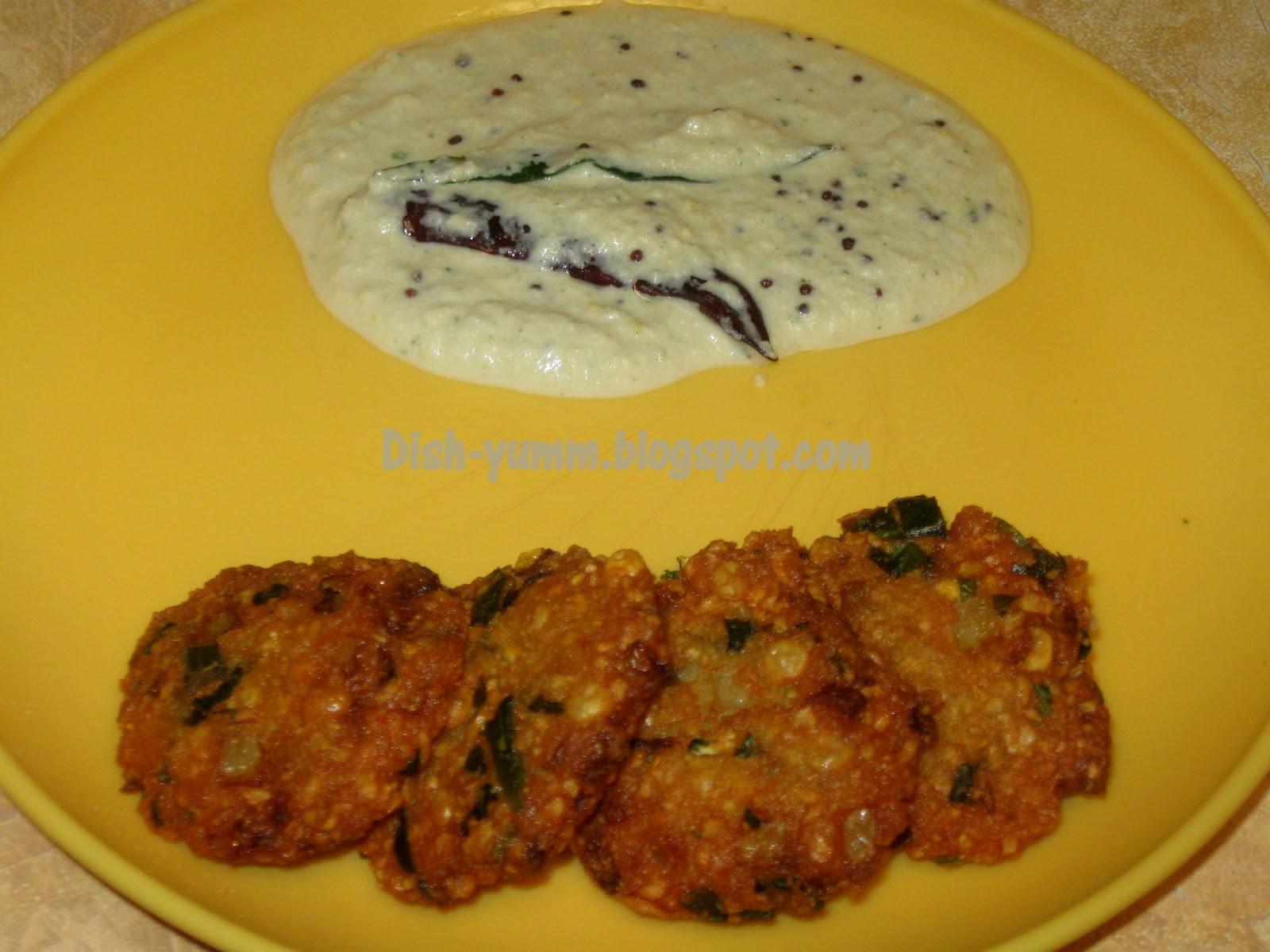 Dish-yumm!!!: Masala Vadai/Spicy Lentil Fritters..