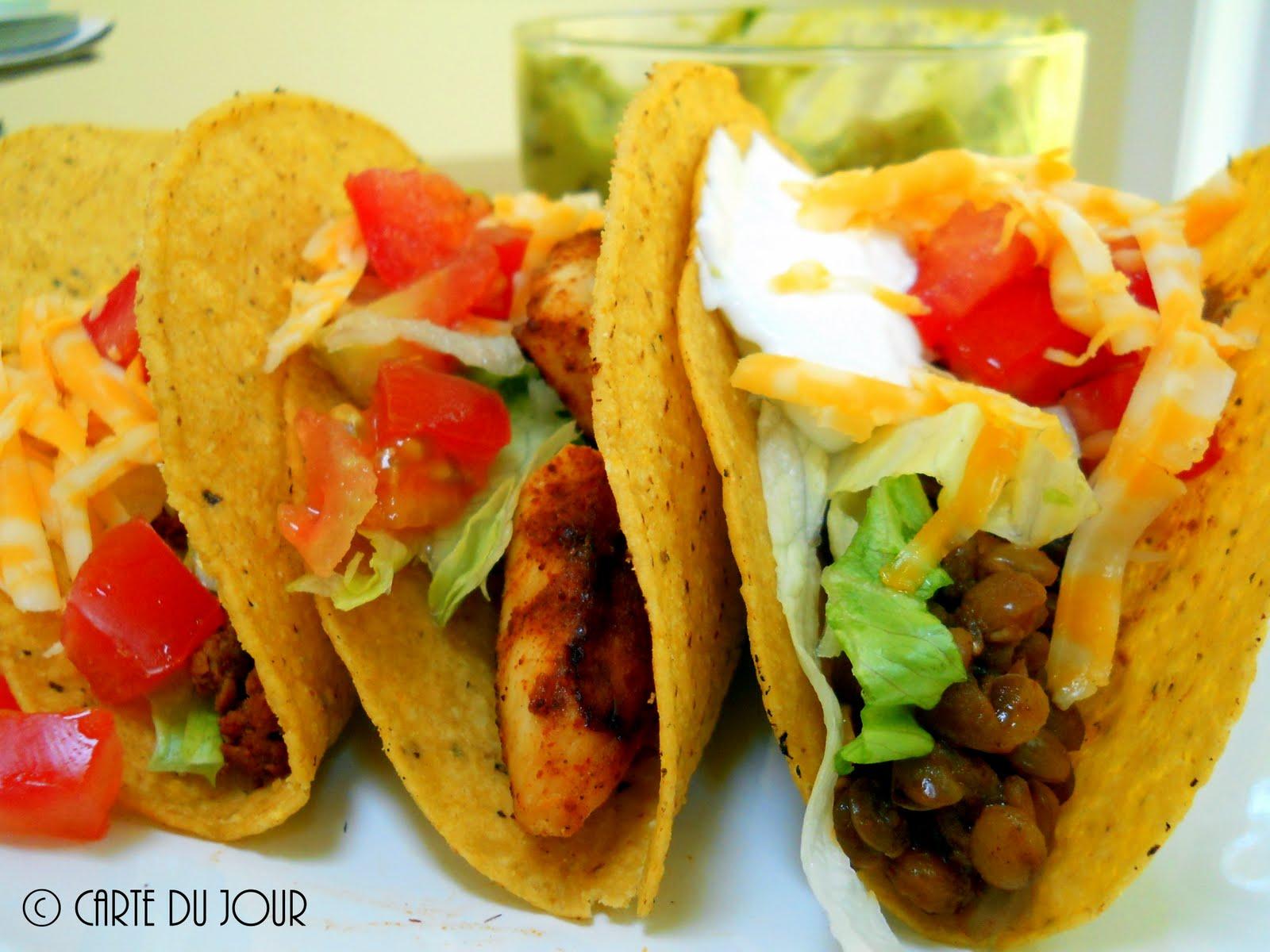 Carte du jour: A vegetarian taco that everyone can enjoy! Lentil Tacos
