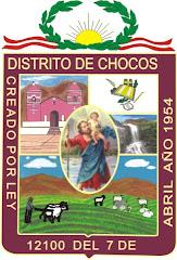 ESCUDO MUNICIPAL CHOCOS, CREADO EN LA GESTION 2003 - 2006