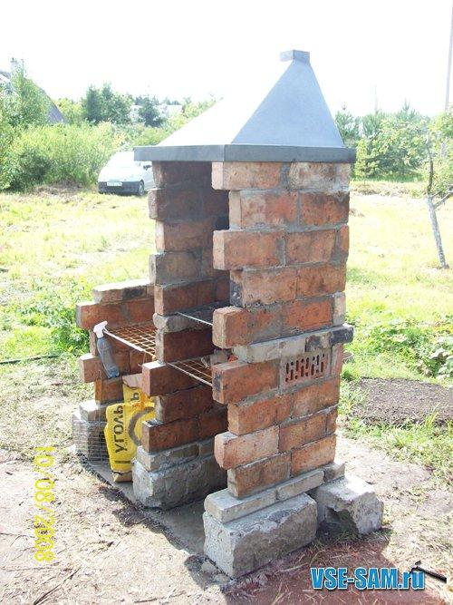 Кирпичная печь для дачи на улице своими руками