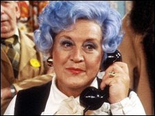 Mollie Sugden - picture from BBC News