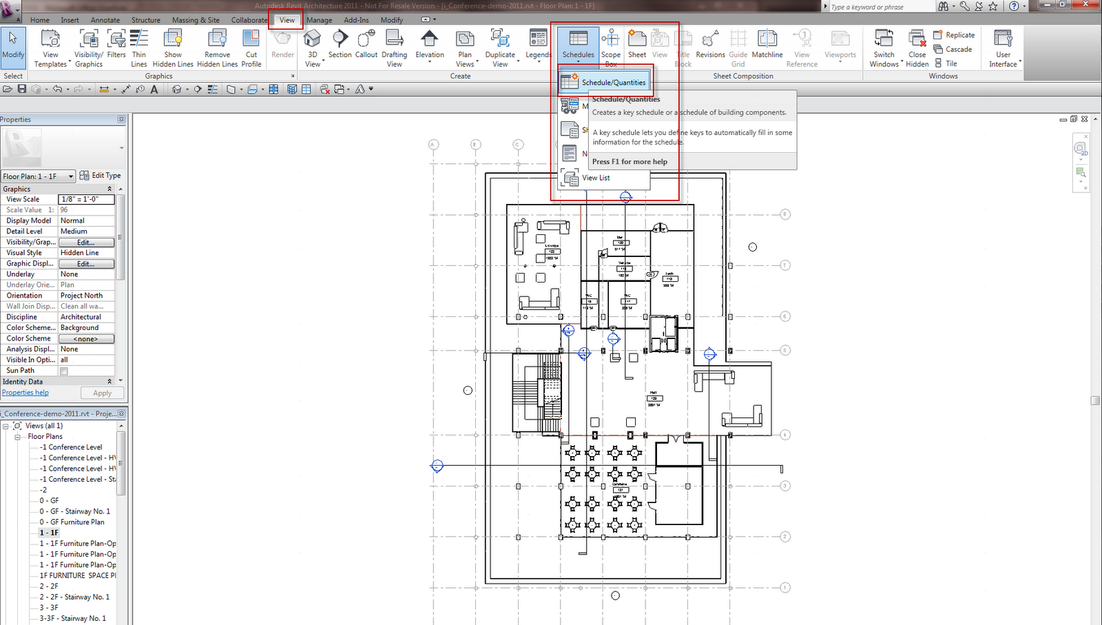 revit how to create finish schedule