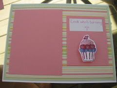 5x7 first birthday card