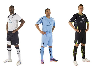new tottenham hotspur 2010 2011 kits
