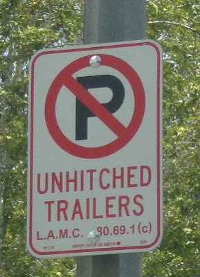 No trailer sign, photo by Rosemary West © 2009