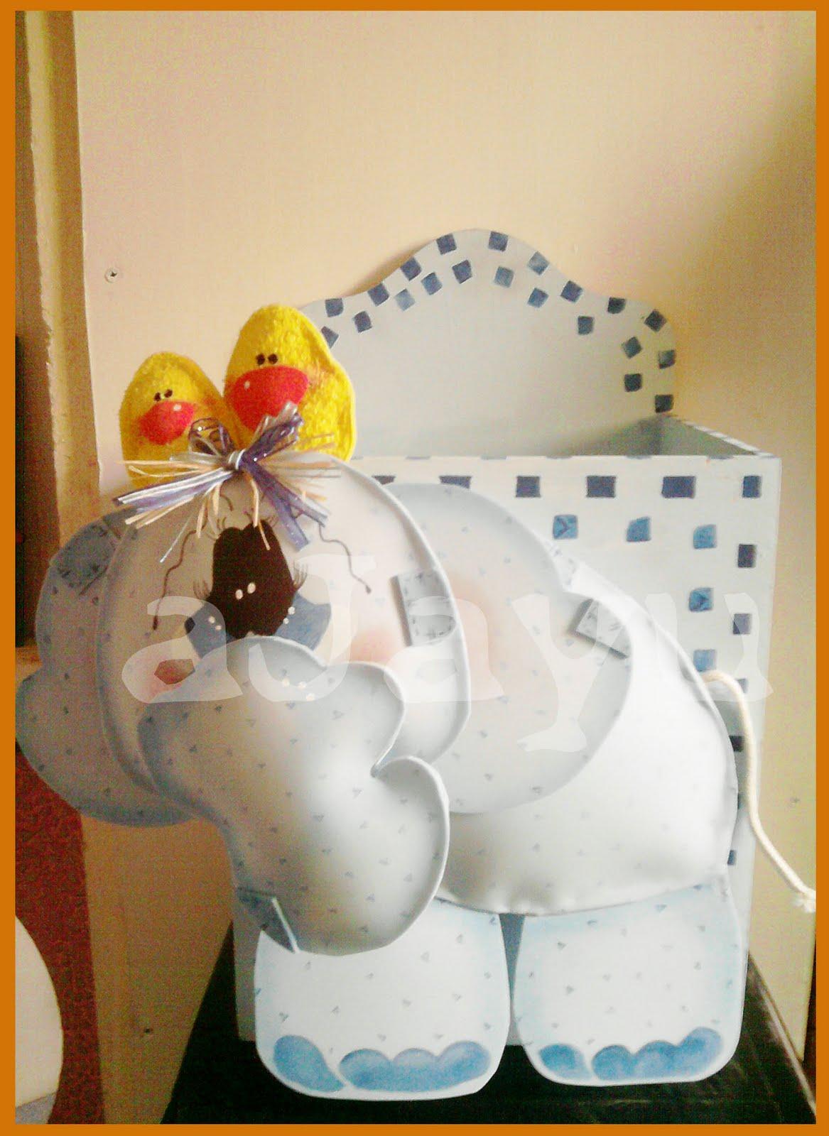 caja grande elefante panalera caja elefante goma eva
