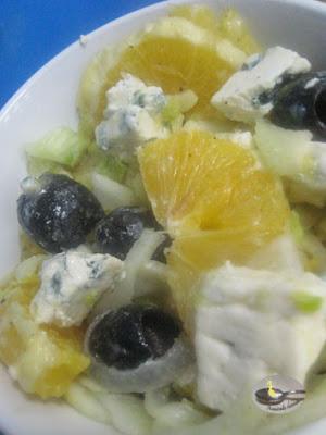 Salata de fenicul cu branza albastra