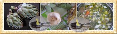 Supa de pui si artichoke