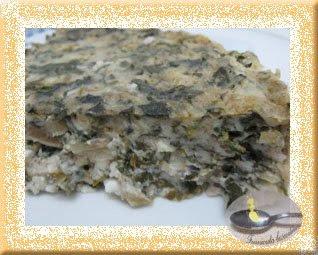 Budinca de spanac si salata verde