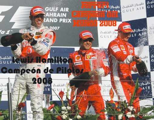 Lewis Hamilton y Ferrari &gt;&gt; Campeones 2008