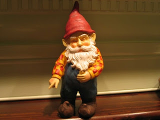 And it was written: a gnome will show us the way... to the bathroom.
