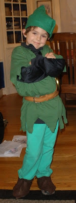 The best Peter Pan costume I could muster... thanks Home Ec!