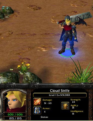Cloud Strife on Dota-Allstars